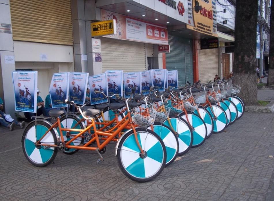 Dịch vụ cho thuê xe đạp chạy roadshow 1